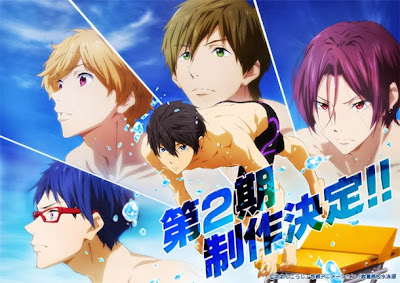 Free! anime segunda temporada anuncio Kyoto Animation