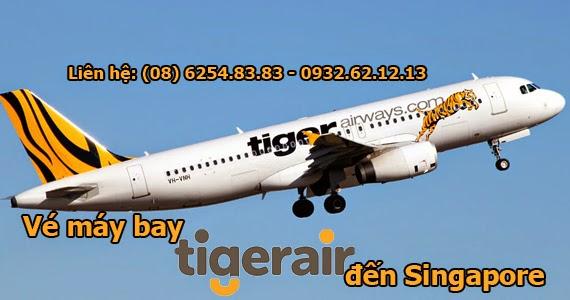 Giá vé máy bay Tiger airways đến Singapore