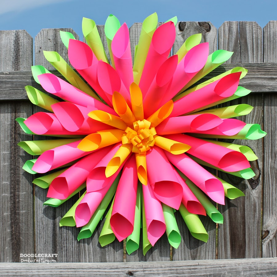doodlecraft  spring dahlia wreath and astrobrights papers  colorize giveaway