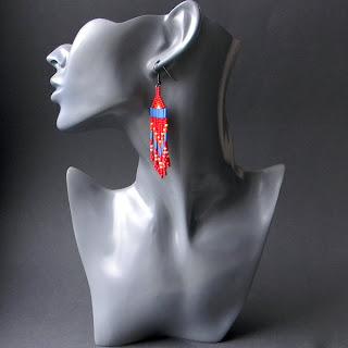 native american beadwork earrings tribal seed bead earrings beadwoven jewelry