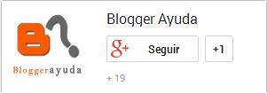 Insignia de Google+ en formato horizontal