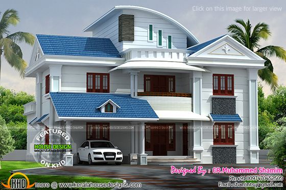 Modern home 3d rendering