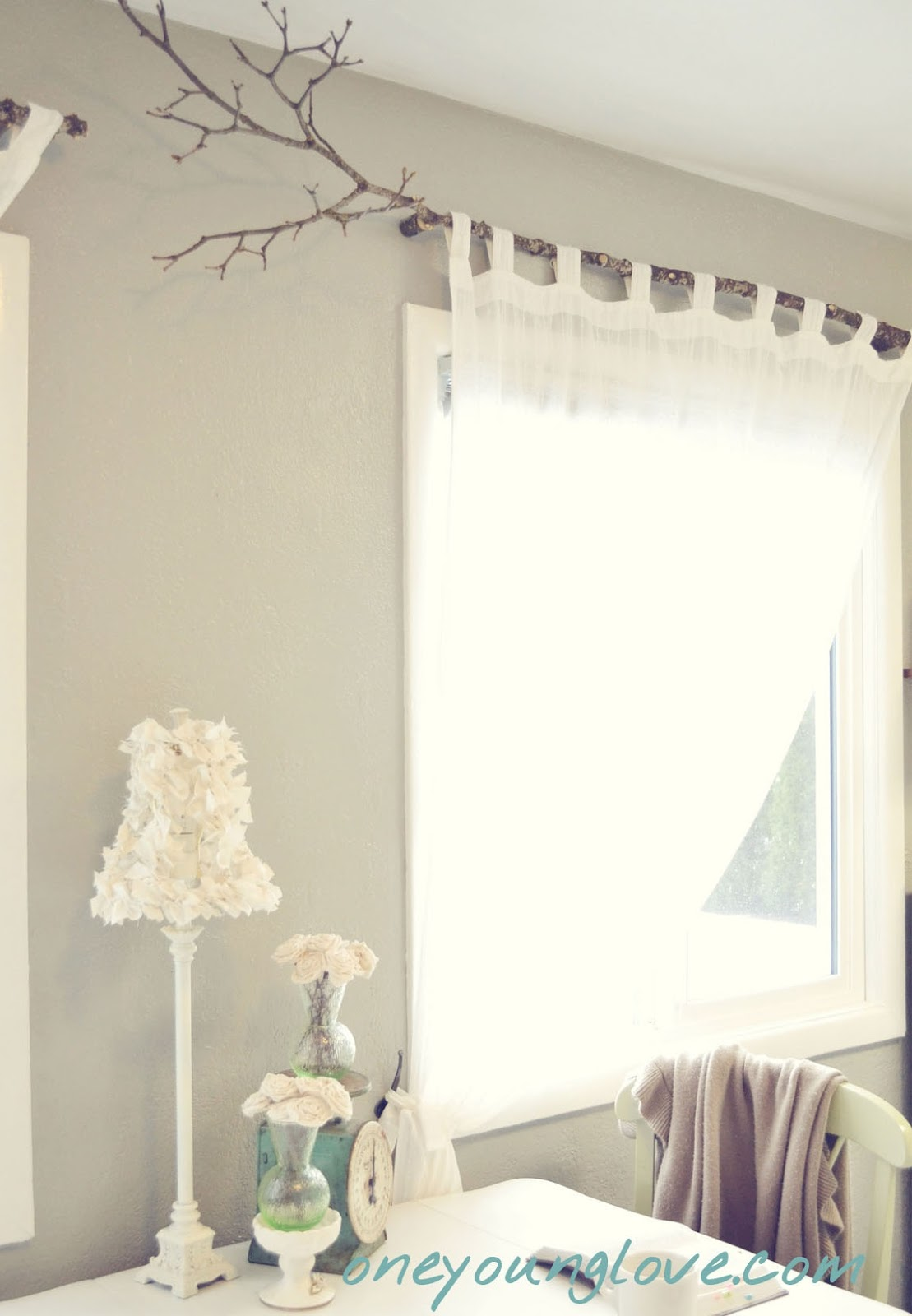 Unique window treatments - Branches Are Always Fun Curtain Rods
