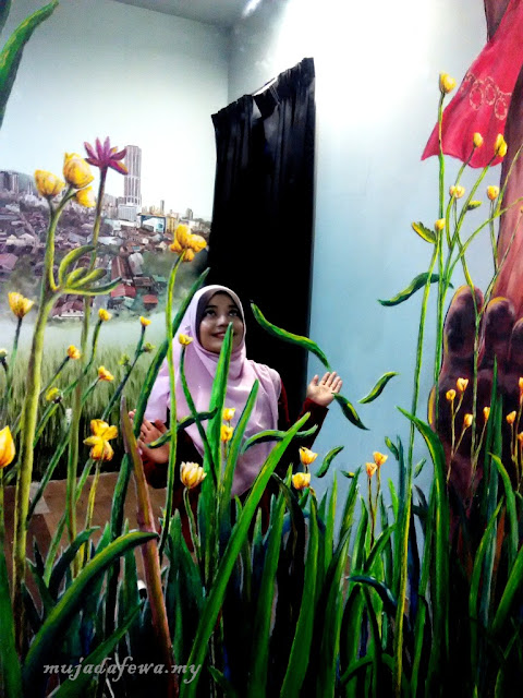 penang street art, street art pulau pinang, Tempat Menarik Pulau Pinang, Penang Time Tunnel, 3D Mural Art Street