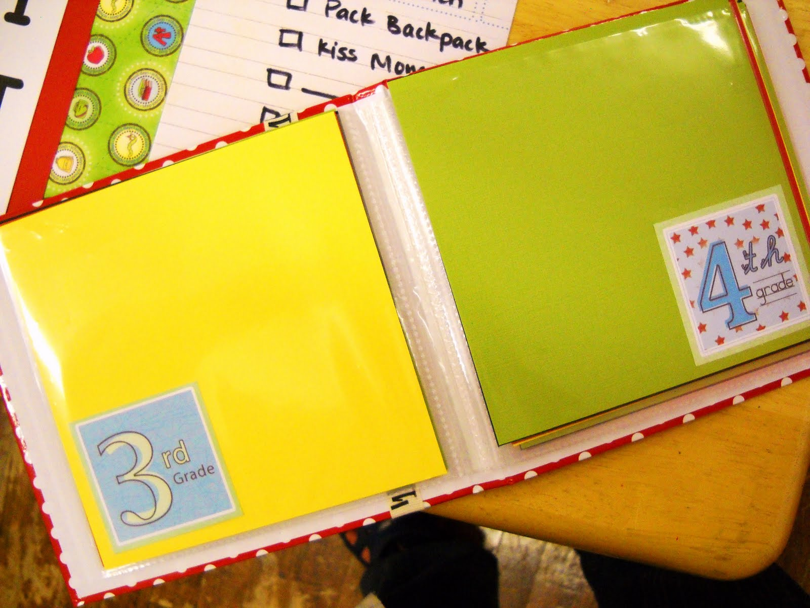 How to make scrapbook for school project - This Is A Simple Scrapbook That Was One Piece Of Patterned Paper From Adornit I Cut Card Stock 6 X 6 And Then Cut The Patterned Paper Into Squares And