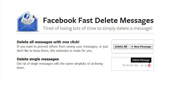 Delete Individual or All Facebook Messages in a Single Click