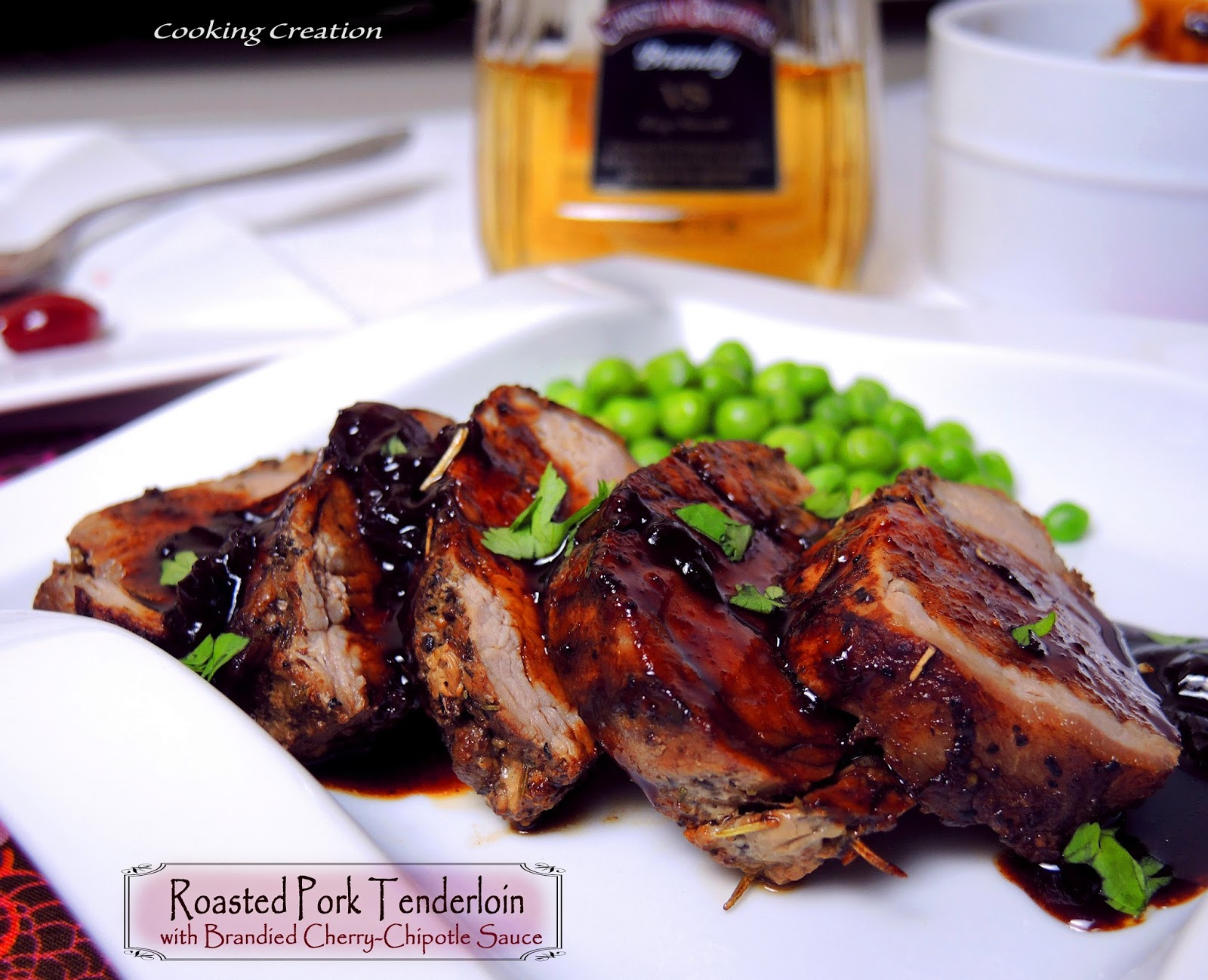 Cooking Creation: Pork Tenderloin with Brandied Cherry-Chipotle Sauce