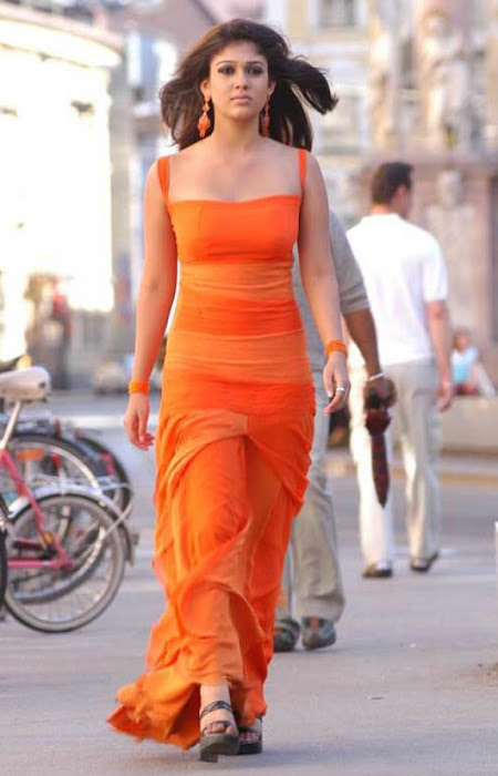 nayanthara in orange dress hot photoshoot