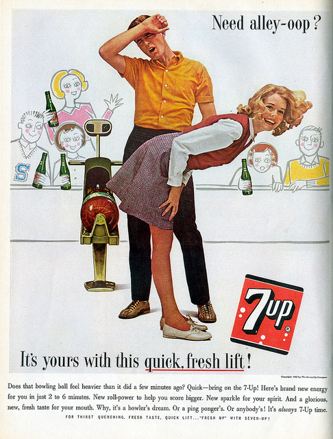 Propaganda da 7up em 1963