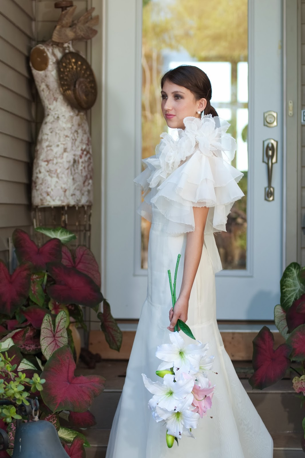 Very Tres Chic: Ginger Rogers Silk Organza Wedding Dress Inspired by ...