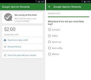 Google Opinion Rewards para Android