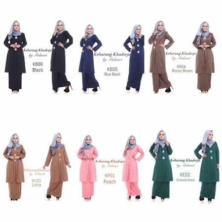 Koleksi Muslimah Paling Menawan Kebarung Khadeeja by Mahsuri Memang Gojes Sangat