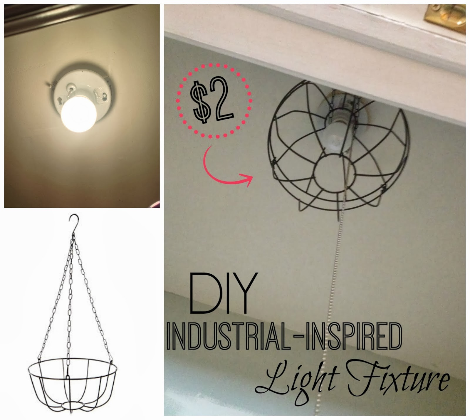 two it yourself diy dollar store industrial light fixture
