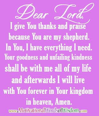 Psalm 23 in prayer
