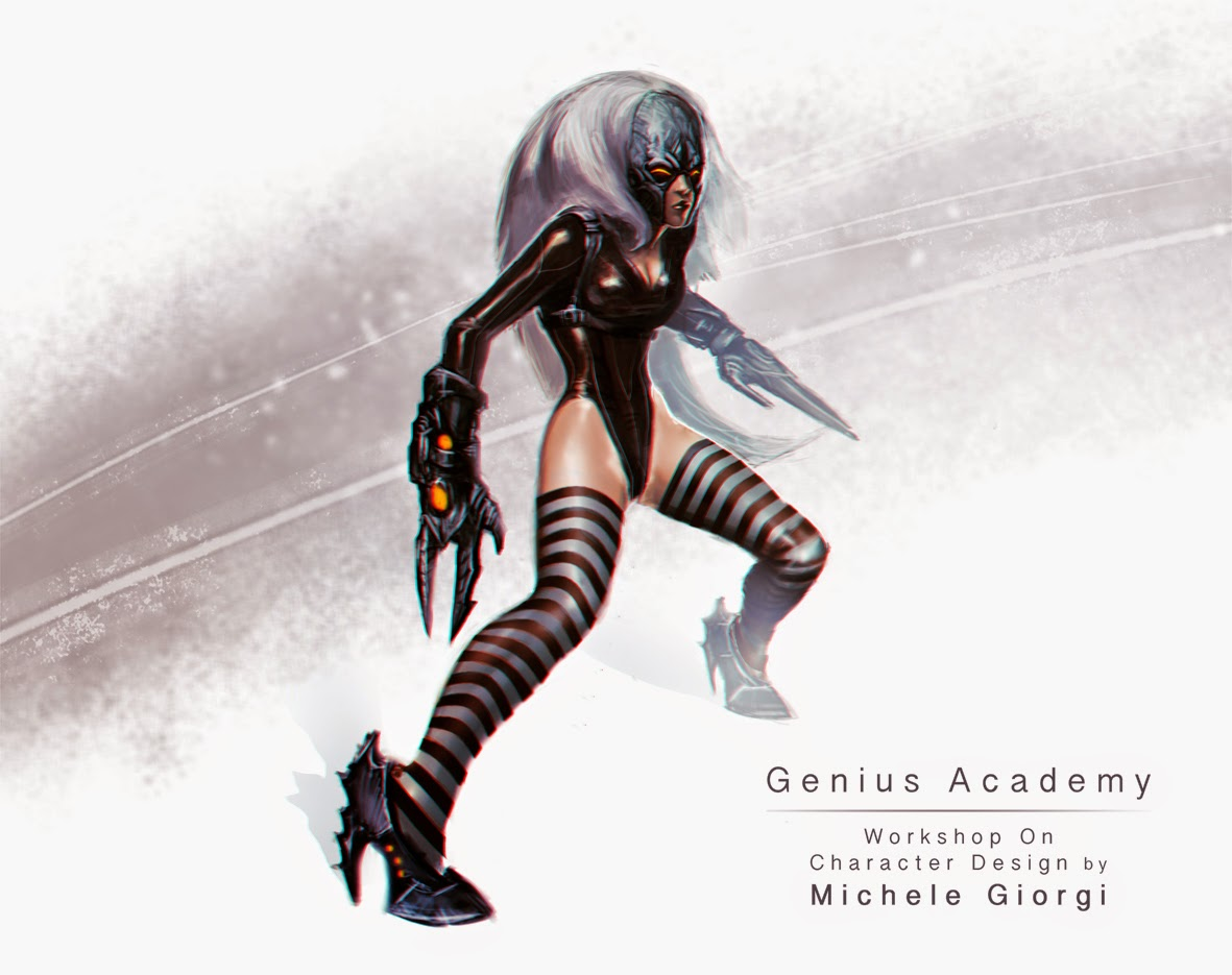 Character Design Techniques By Tokkun Academy : Michele giorgi illustrator genius academy s workshop on