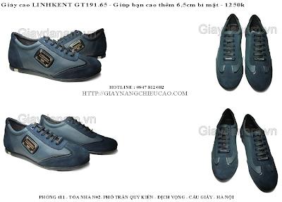 Giày tăng chiều cao Linh Kent GT191. 65