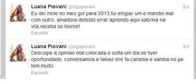 Luana Piovani pede desculpas após criticar Sabrina Sato no carnaval: 'Dei mole'