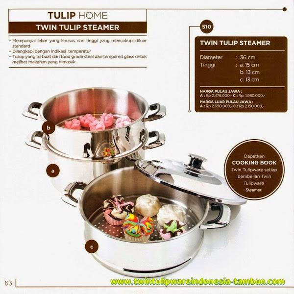 Twin Tulip Steamer, Katalog Tulipware 2014