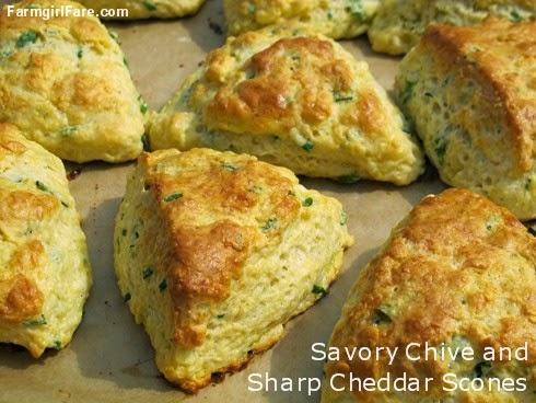 Farmgirl Fare: Recipe: Savory Chive and Sharp Cheddar Cheese Scones