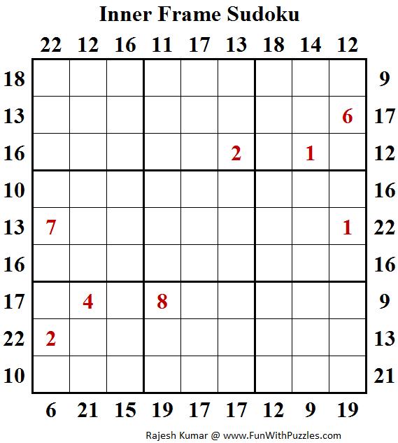 Inner Frame Sudoku (Daily Sudoku League #141)