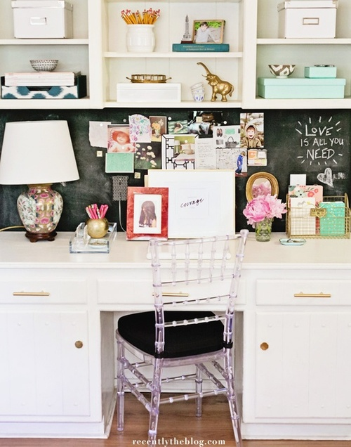 Girly Home Office Daily Dream Decor