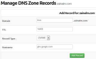 Manage DNS Zone Records
