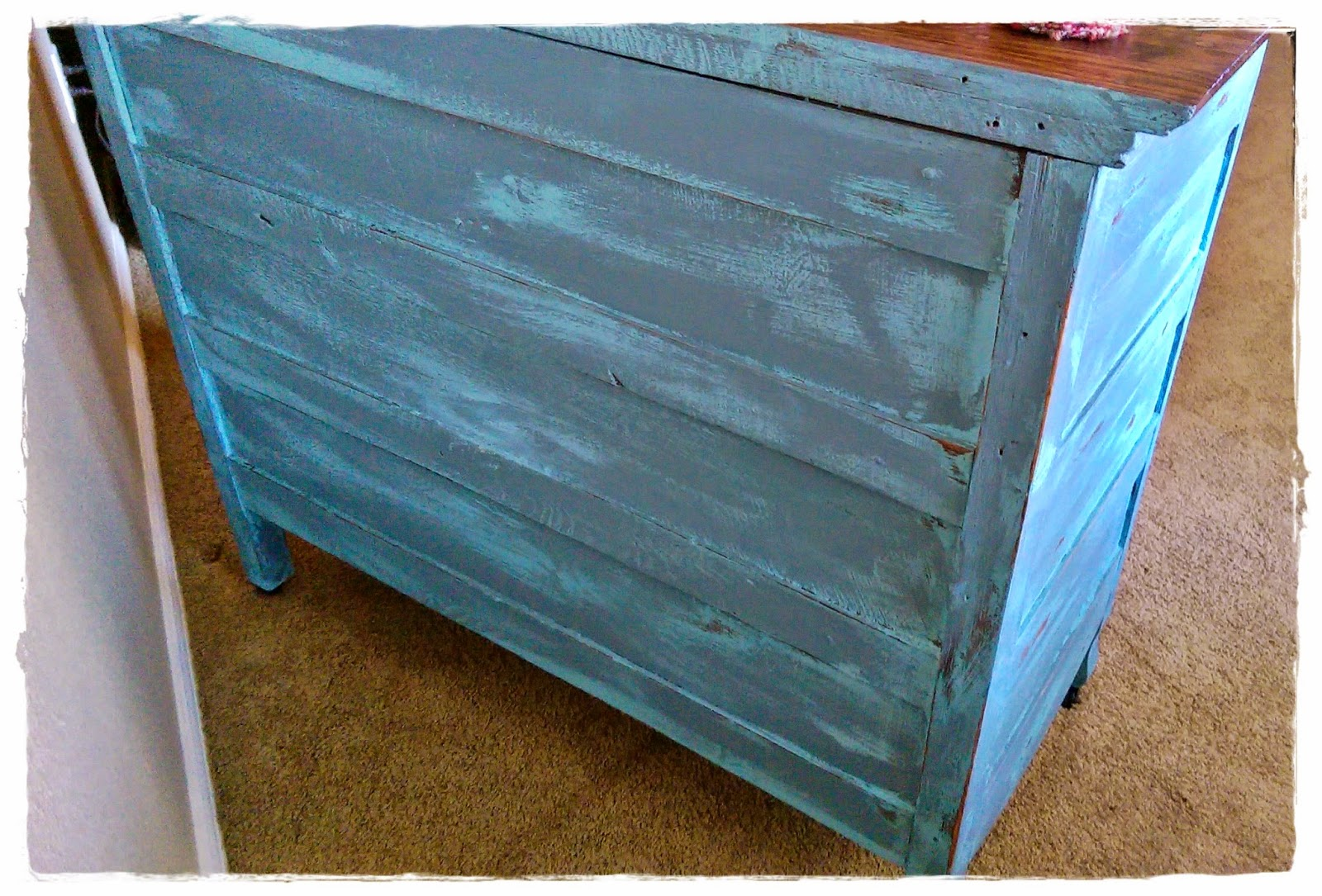 how to make old dresser look distressed