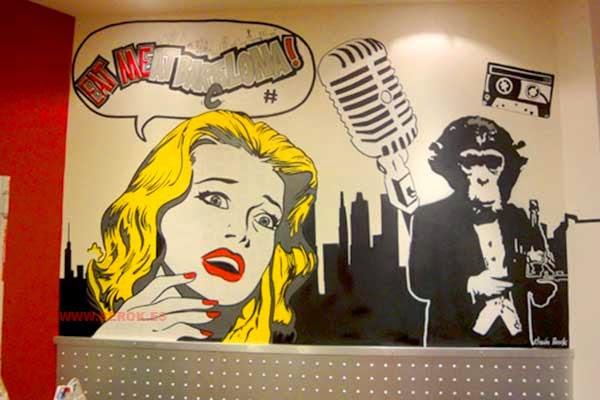 Graffiti cómic años 50