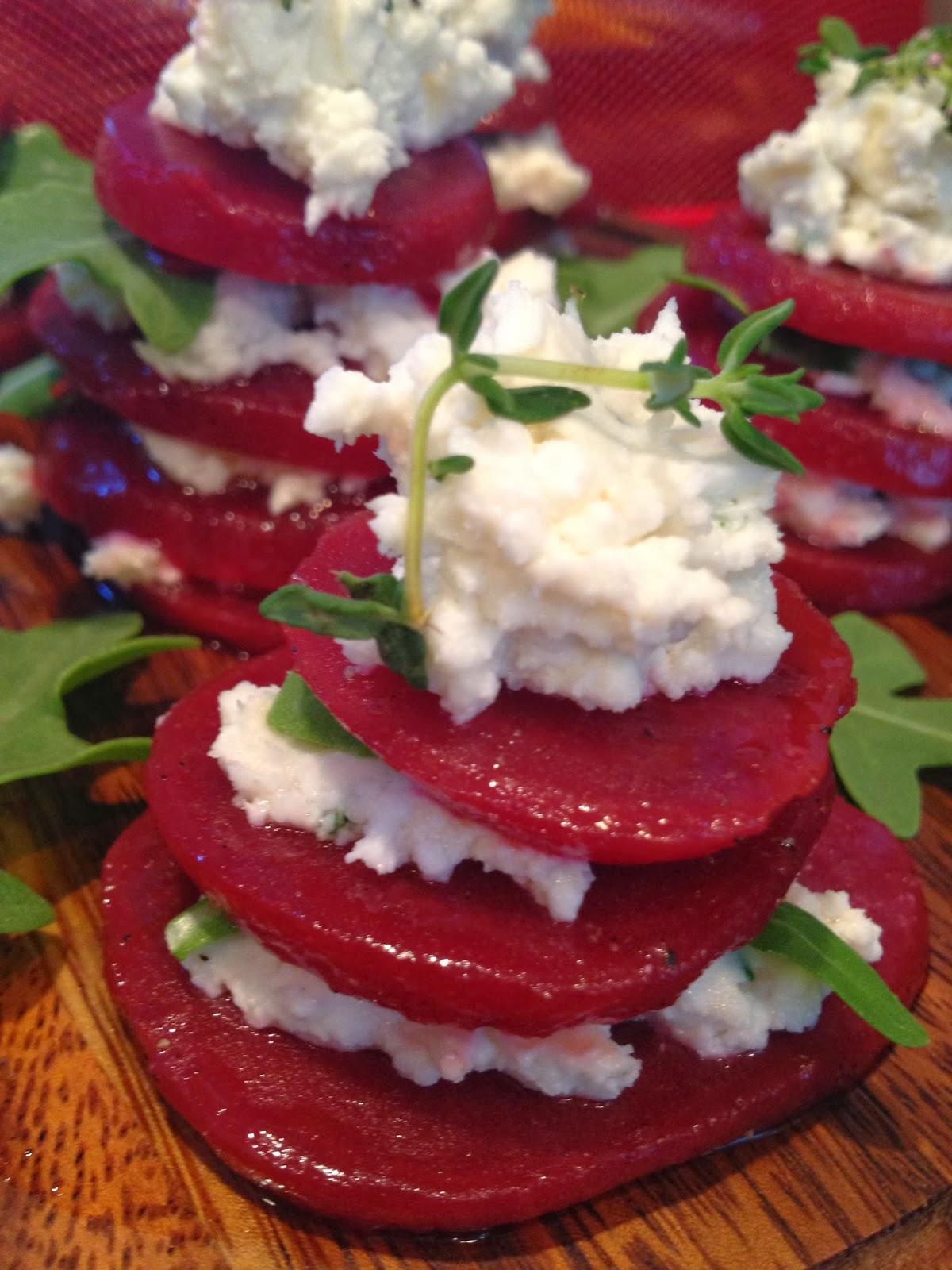 Beet Carpaccio With Goat Cheese And Arugula Recipe — Dishmaps