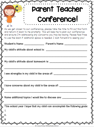 questions to ask at parent teacher conference preschool teaching in paradise parent conferences 982
