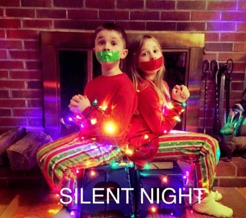 tie up your children for xmas silence funny parenting fails