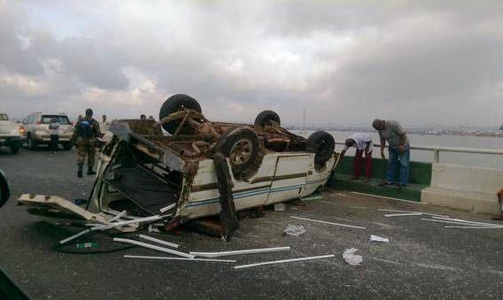 Ghastly Accident on 3rd Mainland Bridge (Photos)