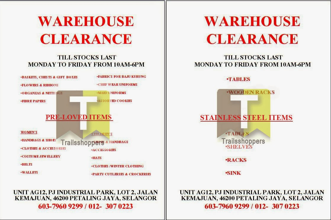Bags Shoes Clothes Warehouse Clearance Sale