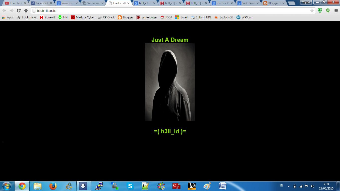 Tampilan situs ID-SIRTII setelah diretas hacker