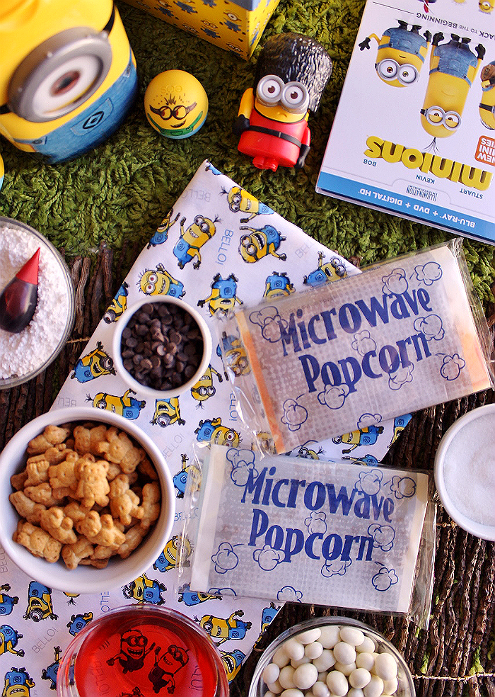 #MinionsMovieNight Snack Mix Ingredients (Ad)