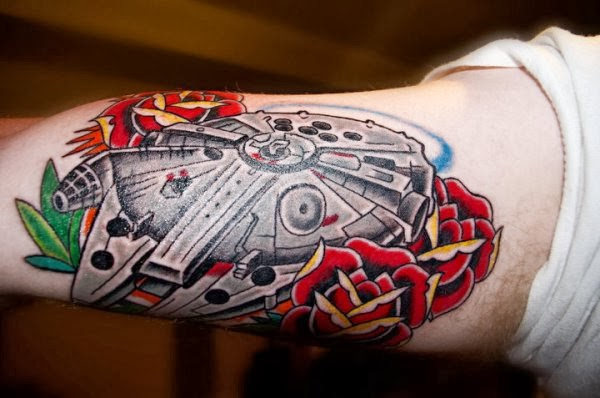 falcon tattoo star wars