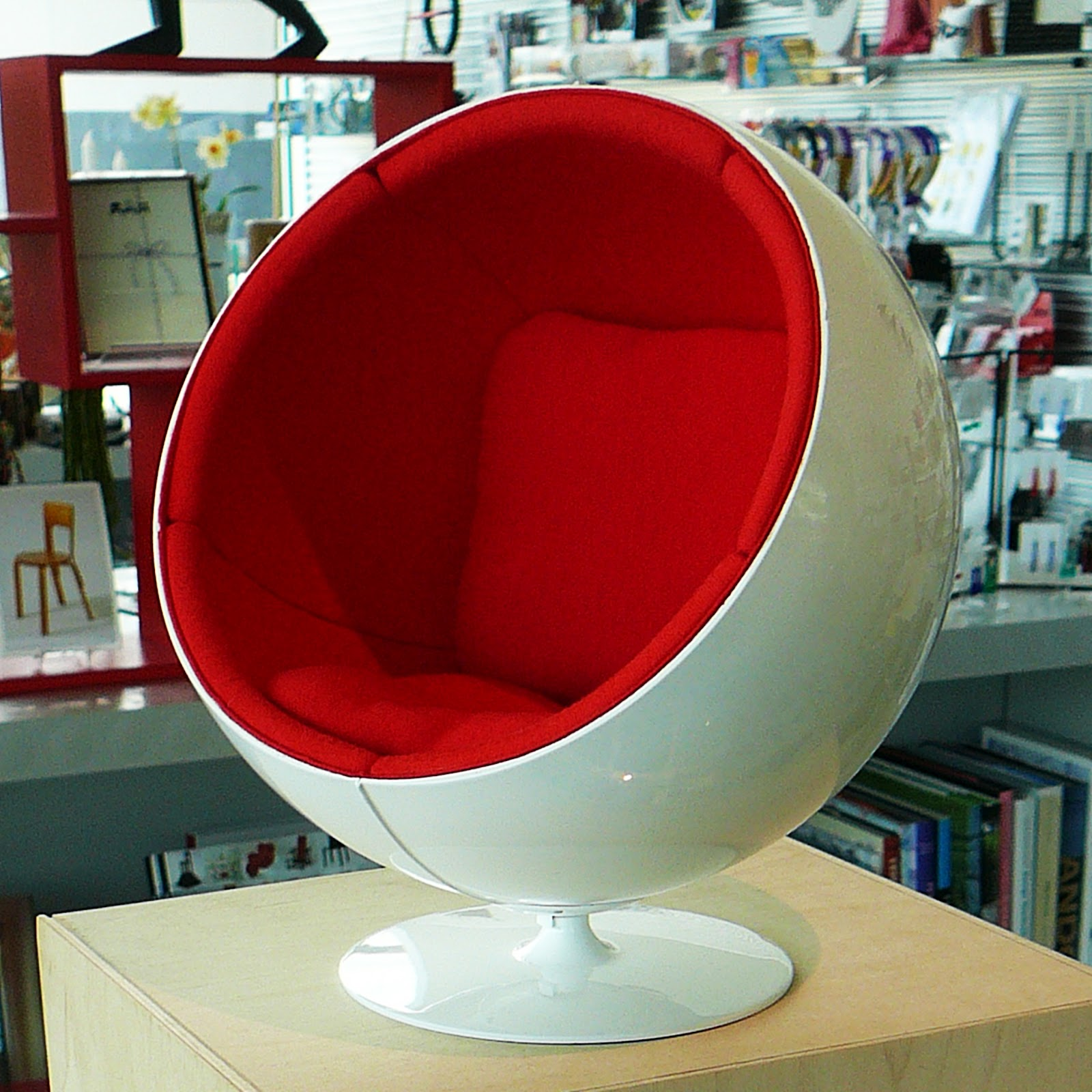 eero aarnio ball fabric red replica products side chair gloss nathan chairs style black copy
