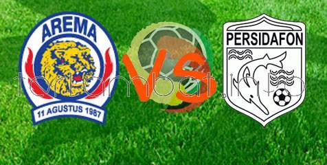 Arema VS Persidafon ISL 9 Januari 2013