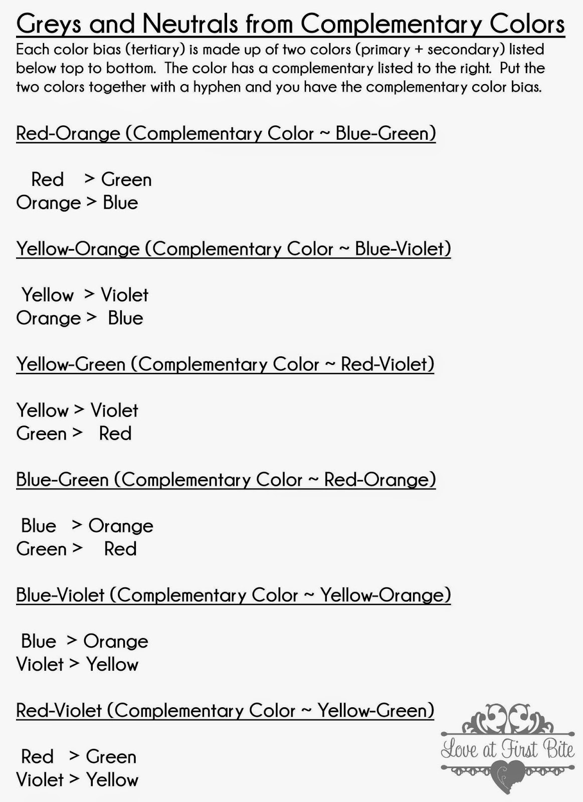 Cookies and color mixing tertiary colors the easy way dont forgetyou still need to remember your complementary colors for you dont want to mix those two together unless you plan on making a neutral color nvjuhfo Choice Image