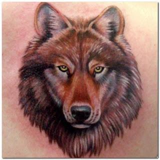 tatuaje de lobo - lupino