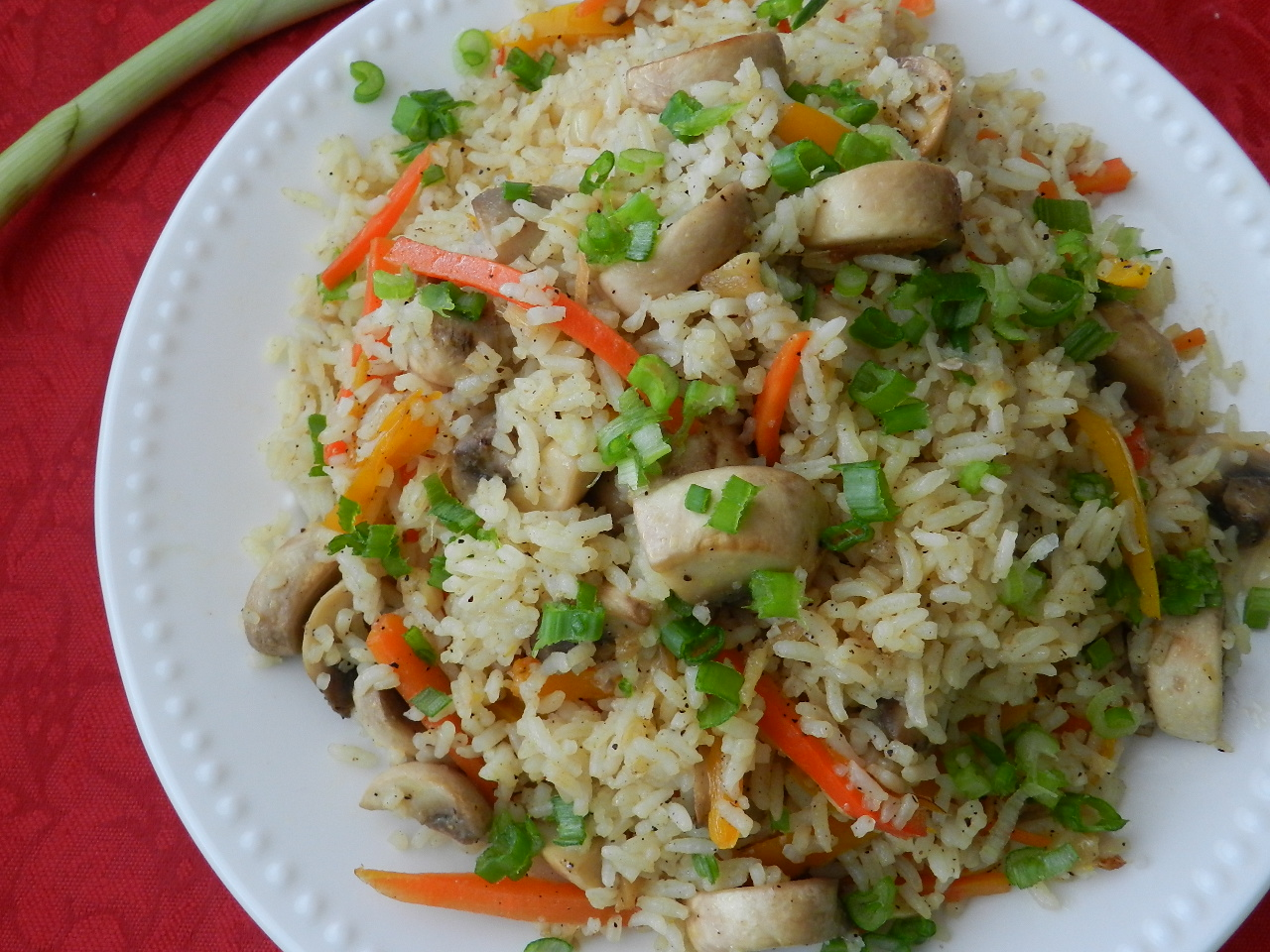 Mushroom Fried Rice With Pickled Ginger Recipe — Dishmaps