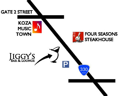 Jiggy's Bar & Lounge Okinawa map