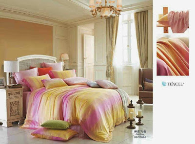 Sprei-Tencel-Motif-Pink-Kuning