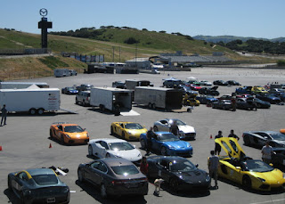 The paddock on a track day at Mazda Raceway Laguna Seca, Salinas, California