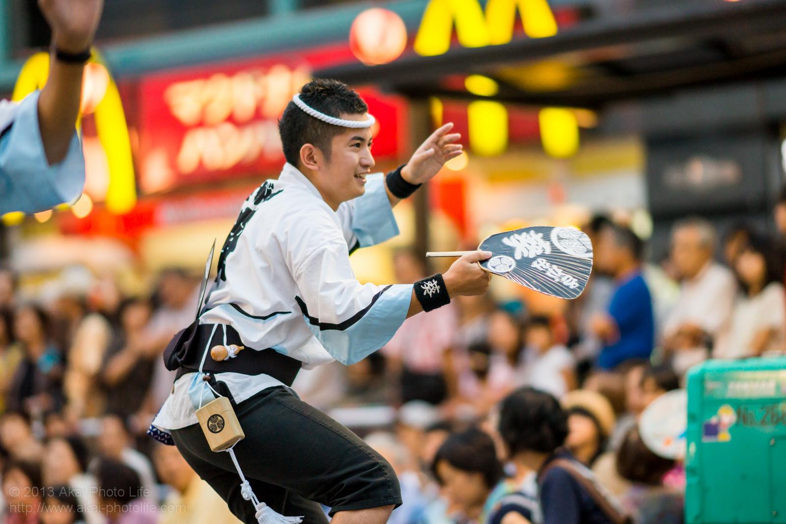 踊れ西八夏まつり、さがみ葵連の男踊り