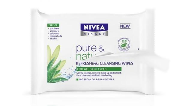 NIVEA Pure & Natural Refreshing Cleansing Wipes, Rangkaian Proudk NIVEA Pure & Natural, NIVEA Pure & Natural, NIVEA