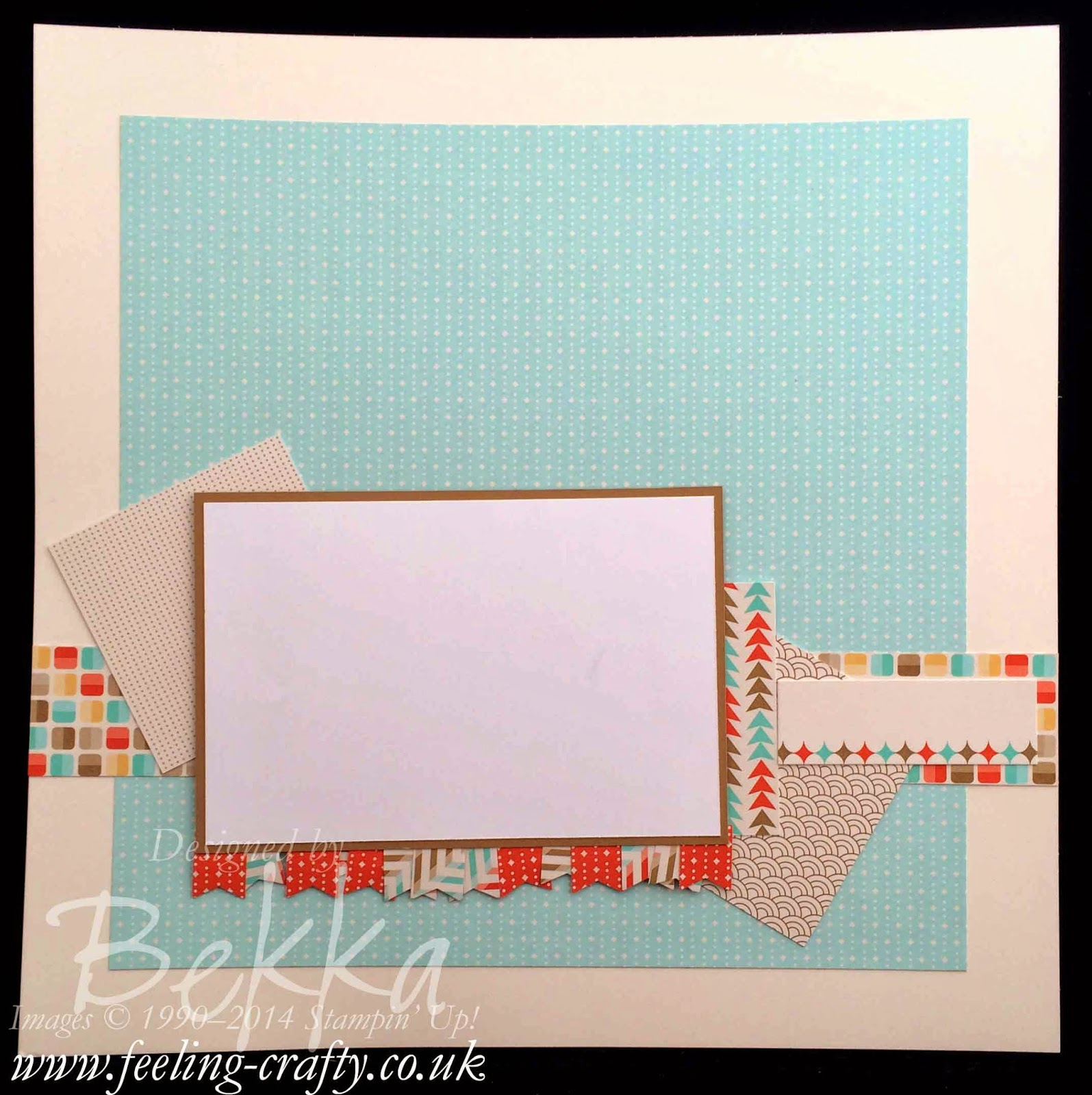 Retro Fresh Scrapbook Page Start Point - check this blog every Saturday for more Scrapbook Ideas