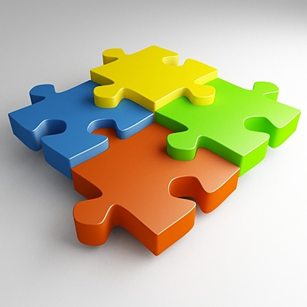 3d View Picture: 3d Jigsaw