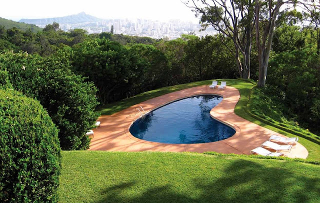 Crazy shape swimming pools modern design by for Pool design honolulu