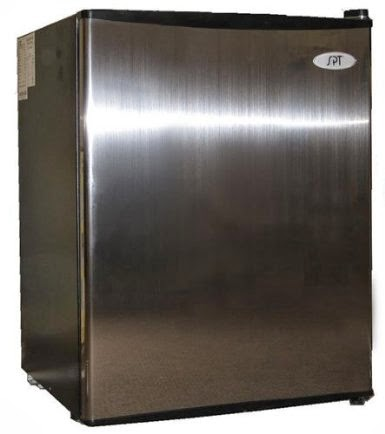 Black sides spt 2 5 cf compact refrigerator stainless door